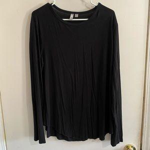 ASOS black long sleeve top